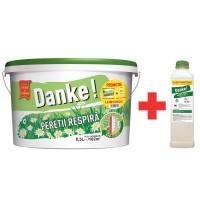 Vopsea lavabila interior, Danke - peretii respira, alba, 8.5 L + amorsa 2 L