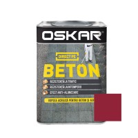 Vopsea acrilica Direct pe beton Oskar, exterior, rosie, 0.75 L