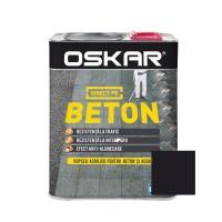 Vopsea acrilica Direct pe beton Oskar, exterior, negru, 2.5 L