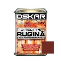 Vopsea alchidica Direct pe rugina Oskar, interior / exterior, maro roscat lucios, 0.5 L