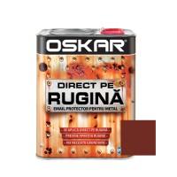 Vopsea alchidica Direct pe rugina Oskar, interior / exterior, maro roscat lucios, 2.5 L