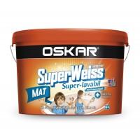 Vopsea superlavabila interior, Oskar Superweiss, alba, 8.5 L