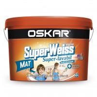 Vopsea superlavabila interior, Oskar Superweiss, alba, 25 L