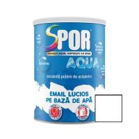 Vopsea acrilica pentru lemn / metal, Spor Aqua, interior / exterior, pe baza de apa, alba, 0.7 L
