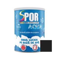 Vopsea acrilica pentru lemn / metal, Spor Aqua, interior / exterior, pe baza de apa, neagra, 0.7 L
