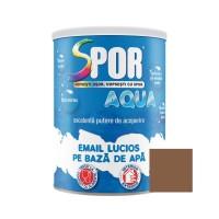Vopsea acrilica pentru lemn / metal, Spor Aqua, interior / exterior, pe baza de apa, maro, 0.7 L