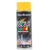 Spray vopsea, Den Braven Super Color Universal, galben trafic RAL 1023, interior / exterior, 400 ml