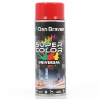 Spray vopsea, Den Braven Super Color Universal, rosu trafic RAL 3020, interior / exterior, 400 ml