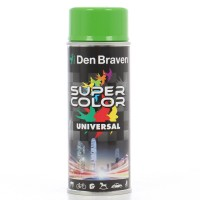 Spray vopsea, Den Braven Super Color Universal, verde deschis RAL 6018, interior / exterior, 400 ml