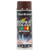 Spray vopsea, Den Braven Super Color Universal, maro inchis RAL 8011, interior / exterior, 400 ml