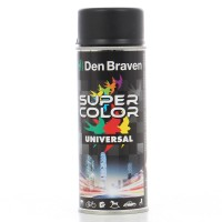 Spray vopsea, Den Braven Super Color Universal, negru intens mat RAL 9005, interior / exterior, 400 ml