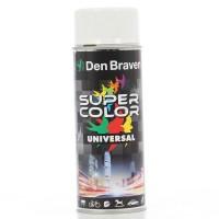 Spray vopsea, Den Braven Super Color Universal, alb RAL 9010, interior / exterior, 400 ml