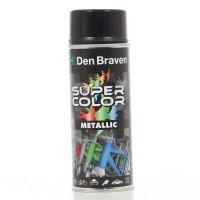 Spray vopsea, Den Braven Super Color Metalic, negru, interior / exterior, 400 ml