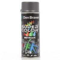 Spray vopsea, Den Braven Super Color Metalic, inox, interior / exterior, 400 ml