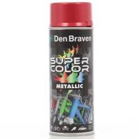 Spray vopsea, Den Braven Super Color Metalic, rosu, interior / exterior, 400 ml