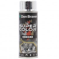 Spray vopsea, Den Braven Super Color Chrome, argintiu, interior / exterior, 400 ml