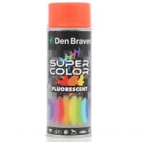 Spray vopsea, Den Braven Super Color Fluorescent, rosu oranj, interior / exterior, 400 ml
