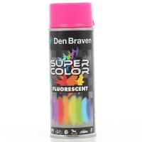 Spray vopsea, Den Braven Super Color Fluorescent, roz, interior / exterior, 400 ml