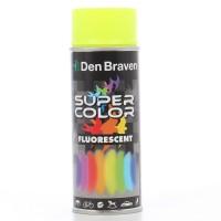 Spray vopsea, Den Braven Super Color Fluorescent, galben, interior / exterior, 400 ml