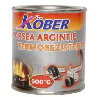 Vopsea siliconica termorezistenta Kober, aluminiu, 0.25 L
