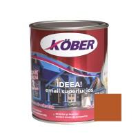 Vopsea alchidica pentru lemn / metal, Kober Ideea, interior / exterior, maro / brun orange RAL 8023, 0.75 L