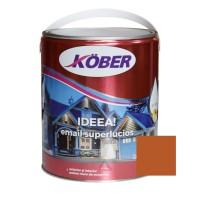 Vopsea alchidica pentru lemn / metal, Kober Ideea, interior / exterior, maro / brun orange RAL 8023, 4 L