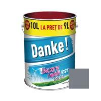 Vopsea alchidica pentru lemn / metal, Danke, exterior, gri metal, 10 L