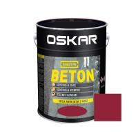 Vopsea acrilica Direct pe beton Oskar, exterior, rosie, 10 L