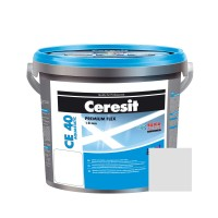 Chit de rosturi gresie si faianta Ceresit CE 40, carrara, interior / exterior, 5 kg