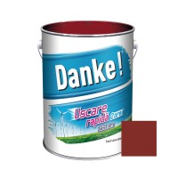 Vopsea alchidica pentru lemn / metal, Danke, exterior, rosu inchis, 4 L