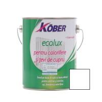 Vopsea acrilica pentru calorifere si tevi cupru, Kober Ecolux, interior / exterior, pe baza de apa, alb, 2.5 L