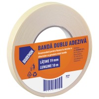 Banda dublu adeziva pentru fixare Baudeman 8357 10 m x 19 mm