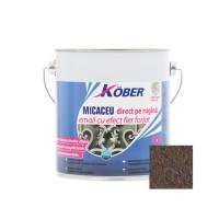 Vopsea alchidica pentru metal Kober Micaceu, efect fier forjat, interior / exterior, brun, 2.5 L