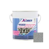 Vopsea alchidica pentru metal Kober Micaceu, efect fier forjat, interior / exterior, gri / graffiti, 2.5 L