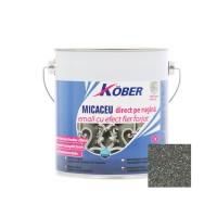 Vopsea alchidica pentru metal Kober Micaceu, efect fier forjat, interior / exterior, gri fumuriu, 2.5 L