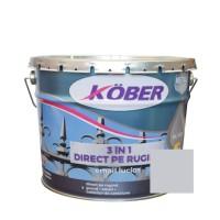 Vopsea alchidica pentru metal Kober 3 in 1, interior / exterior, argintiu, 10 L