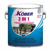 Vopsea alchidica pentru metal Kober 3 in 1, interior / exterior, bruna, 10 L
