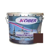 Vopsea alchidica pentru metal Kober 3 in 1, interior / exterior, brun, 10 L