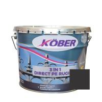 Vopsea alchidica pentru metal Kober 3 in 1, interior / exterior, negru, 10 L