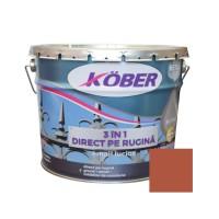Vopsea alchidica pentru metal Kober 3 in 1, interior / exterior, maro, 10 L