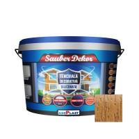 Tencuiala decorativa siliconata Sauber Dekor, 2 mm, structurata, aspect texturat, caramida rosie, interior / exterior, 25 kg