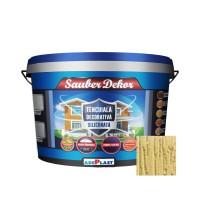 Tencuiala decorativa siliconata Sauber Dekor, 2 mm, structurata, aspect texturat, nisip auriu, interior / exterior, 25 kg