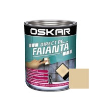 Vopsea Direct pe faianta Oskar, interior, pe baza de apa, bej inchis / amber, 0.6 L
