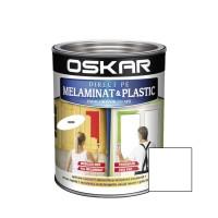 Vopsea Direct pe melaminat si plastic Oskar, interior, diluabila cu apa, alb / cocos, 0.6 L