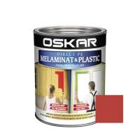 Vopsea Direct pe melaminat si plastic Oskar, interior, diluabila cu apa, rosu / sangria, 0.6 L