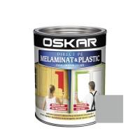 Vopsea Direct pe melaminat si plastic Oskar, interior, diluabila cu apa, gri / silver, 0.6 L