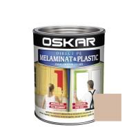 Vopsea Direct pe melaminat si plastic Oskar, interior, diluabila cu apa, crem inchis / caramel, 0.6 L