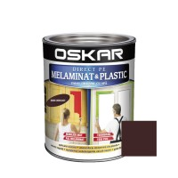 Vopsea Direct pe melaminat si plastic Oskar, interior, diluabila cu apa, maro inchis / dark chocolate, 0.6 L