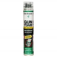 Spuma poliuretanica pentru montaj, aplicare cu pistol, Den Braven Gun Foam Control, 750 ml