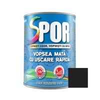 Vopsea alchidica pentru metal Spor, interior / exterior, negru mat, 0.75 L